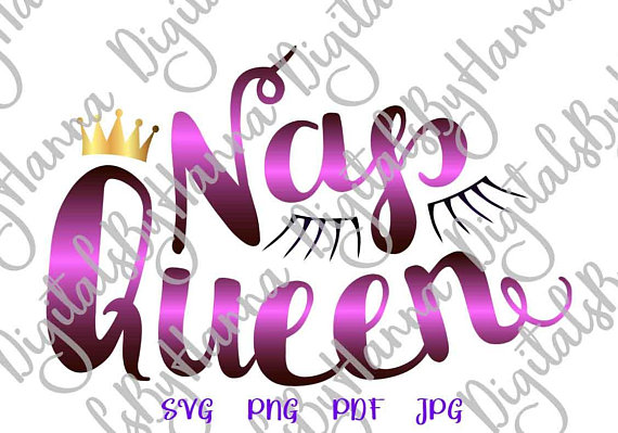 Nap Queen DIY Instant Download, Die Cut Iron on Vinyl Card Making
