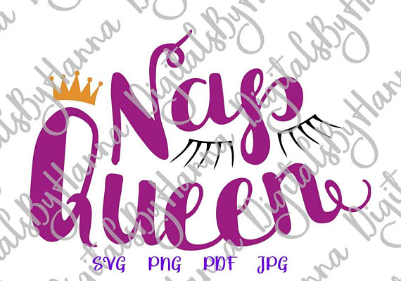 Nap Queen Vector Clipart SVG File for Cricut