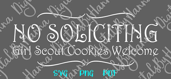 No Soliciting Scrapbook Ideas Files for Laser