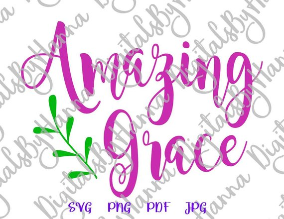 Amazing Grace SVG Bible Verse Die Cut Iron on Vinyl
