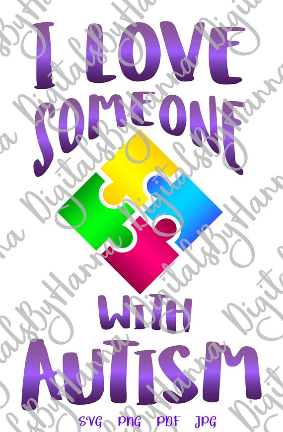 Autism Instant Download Die Cut Iron on Vinyl Card Making