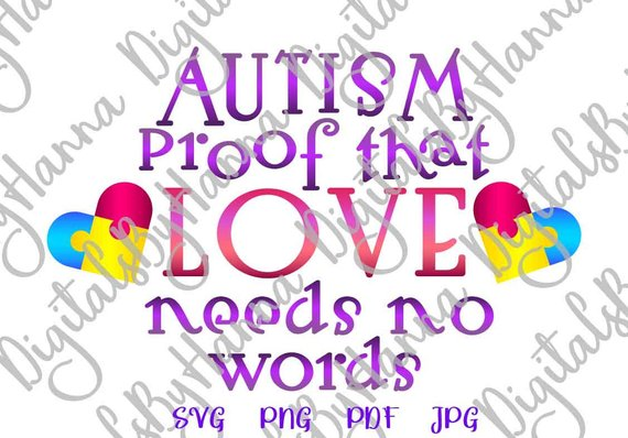Autism Proof Vector Clipart File for Cricut
