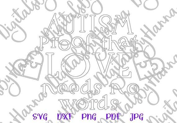 Autism Proof Vector Clipart SVG File for Cricut