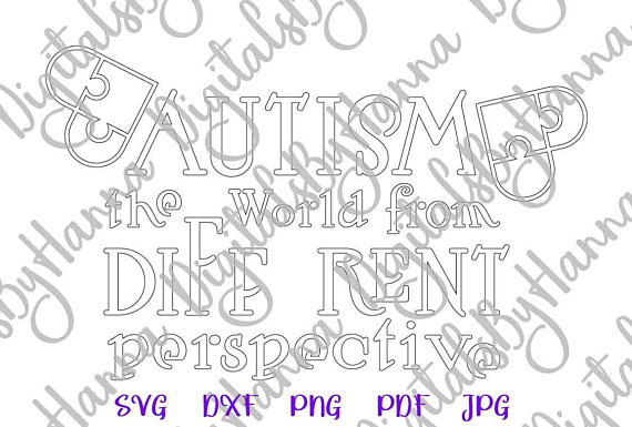 Autism Silhouette DXF Digital Clipart Gift