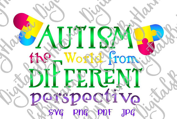 Autism Word Vector Clipart SVG File for Cricut