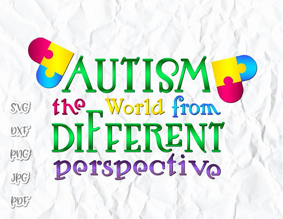 Autism the World from different Perspective SVG
