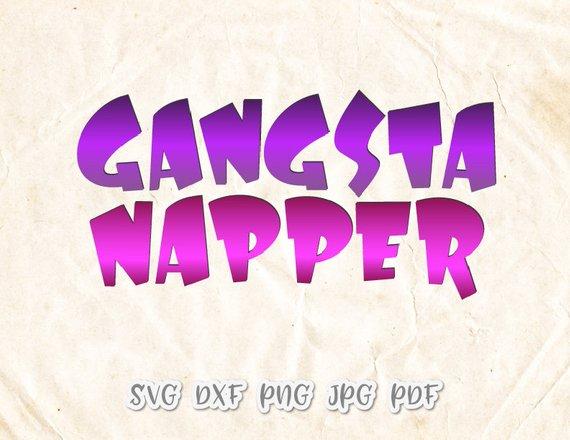 Baby Boy Onesie SVG Gangsta Napper Vector Clipart
