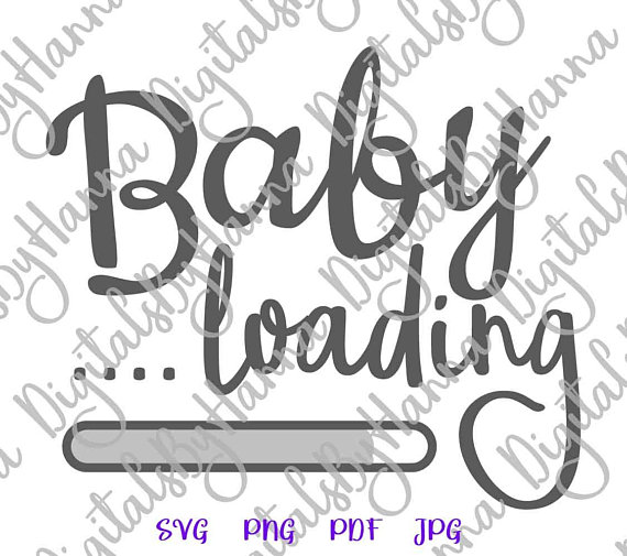 Baby Loading Pregnant SVG Files for Cricut