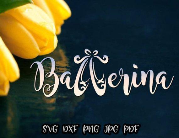 Ballerina SVG File for Cricut Applique Ballet Vector