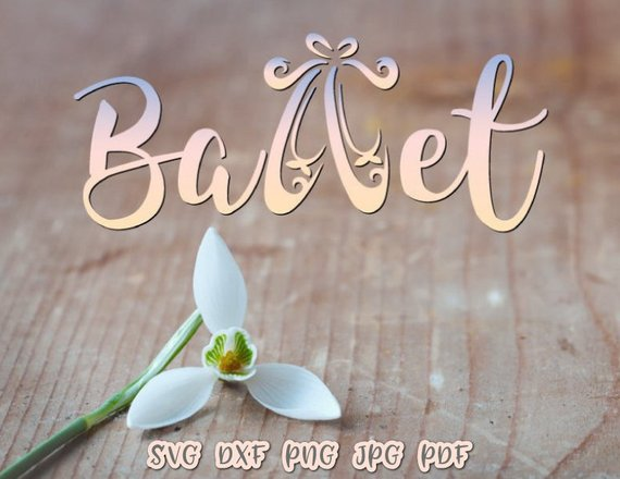 Ballet SVG File for Cricut Applique Dance Vector Clipart