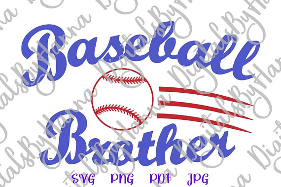 Baseball Bro Ball Vector Clipart SVG File for Cricut
