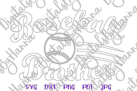 Baseball Brother DXF Digital Clipart Gift
