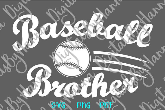 Baseball Brother Scrapbook Ideas Files for Laser Shirt