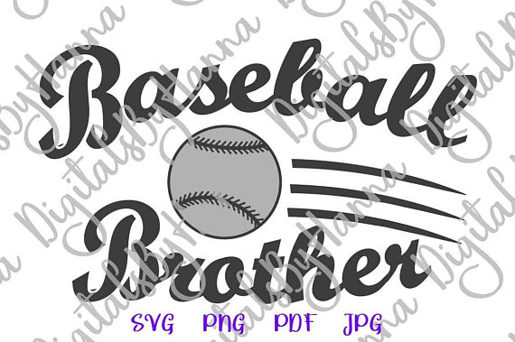 Baseball Brother Shirt Decal Heat HTV Cutting