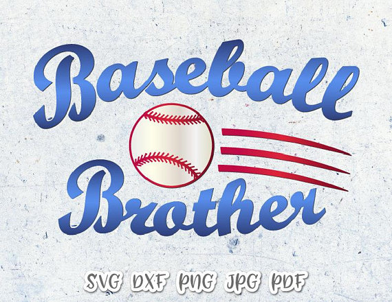 Baseball Brother Vector Clipart SVG File for Cricut
