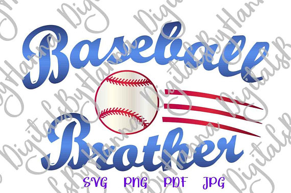 Baseball DIY Instant Download Die Cut Iron on Vinyl Card Making