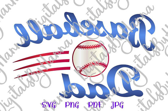 Baseball Dad Image Cutter Visual Arts Stencil Maker Papercraft