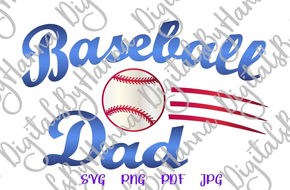 Baseball Dad Instant Download Die Cut Iron on Vinyl Card Making