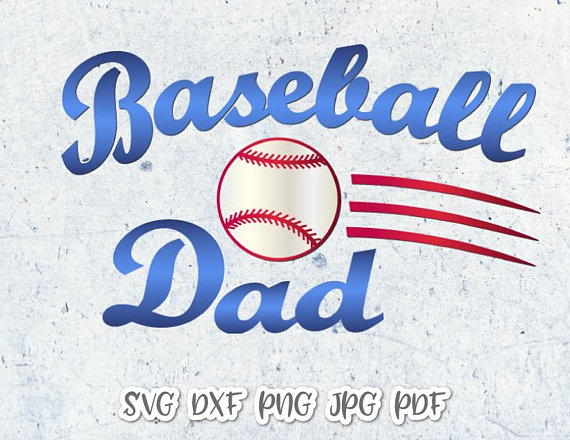 Baseball Dad Vector Clipart SVG File for Cricut