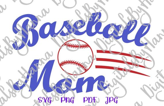 Baseball Mom Ball Vector Clipart SVG File for Cricut
