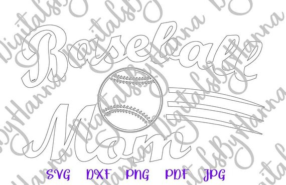 Baseball Mom DXF Digital Clipart Gift Momlife