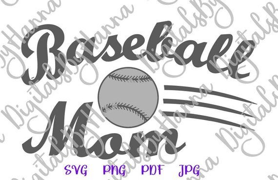 Baseball Mom Shirt Decal Heat HTV Cutting