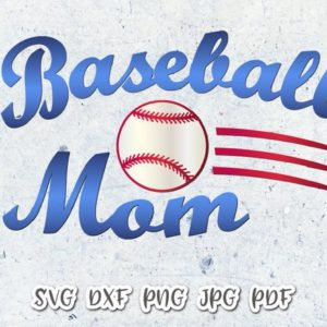 Baseball Mom Vector Clipart Momlife SVG File for Cricut