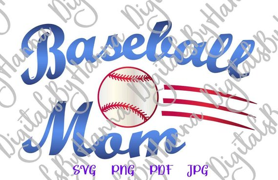 Baseball Mom Visual Arts Stencil Maker Papercraft