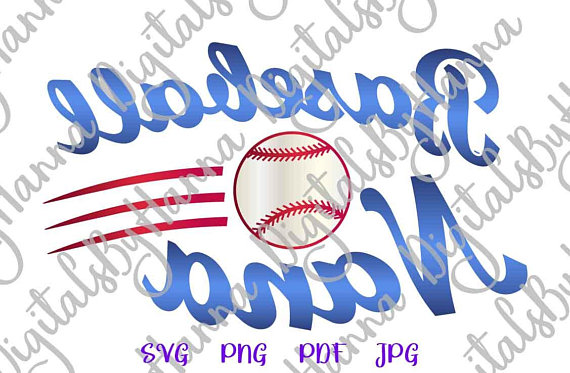 Baseball Nana Image Cutter Visual Arts Stencil Maker Papercraft