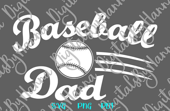 Baseball Papa Scrapbook Ideas Files for Laser Shirt