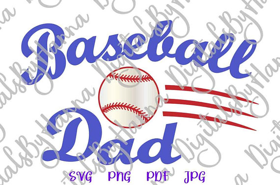 Baseball SVG Father Proud Vector Clipart SVG File for Cricut