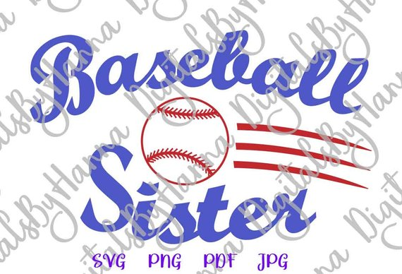 Baseball Sis Vector Clipart SVG File for Cricut