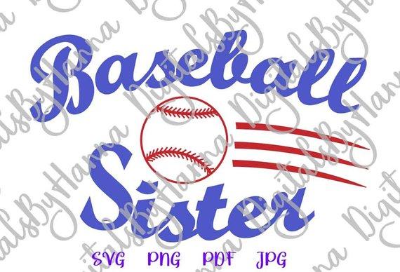 Baseball Sis Vector Clipart SVG File for Cricut