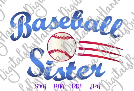 Baseball Sister DIY Instant Download Die Cut Iron on Vinyl Card Making