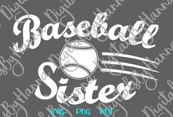 Baseball Sister Scrapbook Ideas Files for Laser Shirt