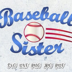 Baseball Sister Vector Clipart SVG File for Cricut