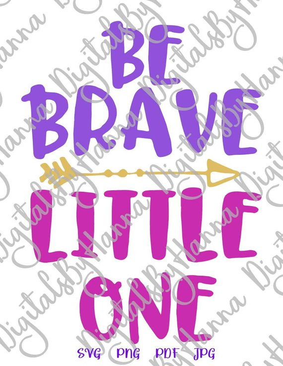 Be Brave Little One Iron on Transfers Collage Sheets