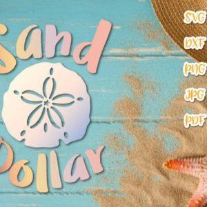 Beach SVG Files for Cricut Sand Dollar Sea Clipart Summer