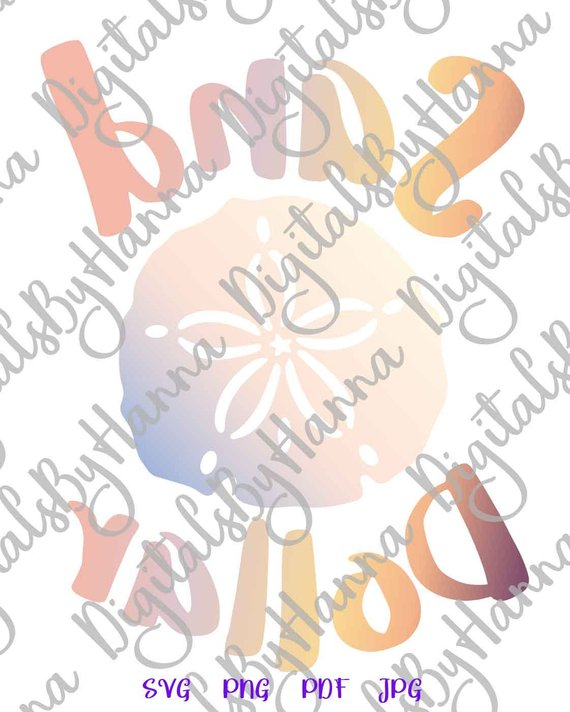 Beach SVG Sand Dollar Sea Clipart Summer Shirt Decal Heat HTV