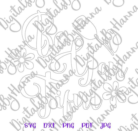 Beautiful Silhouette DXF Digital Clipart Gift