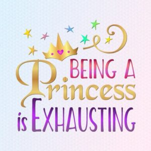 Being Princess Vector Clipart SVG File for Cricut