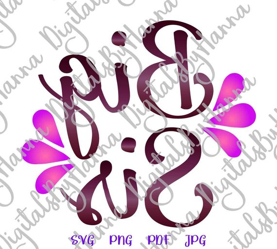 Big Sister SVG Files for Cricut Iron On Vector Clipart Big Little Sorority