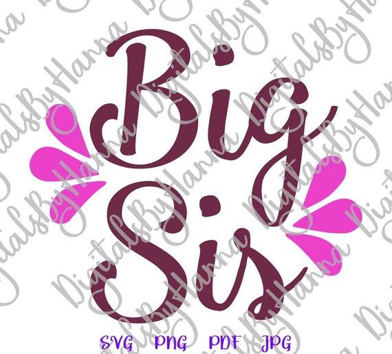 Big Sister Vector Clipart SVG File for Cricut