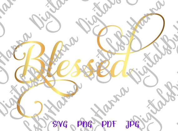 Blessed DIY Instant Download Die Cut Iron on Vinyl Card Making