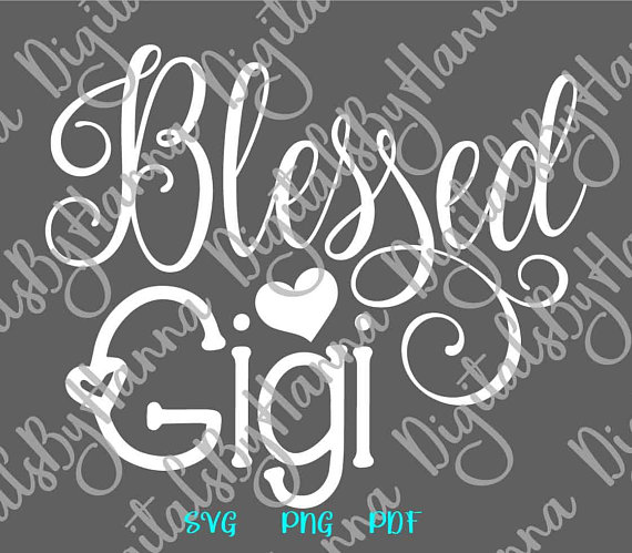 Blessed Gigi Scrapbook Ideas Files for Laser Shirt