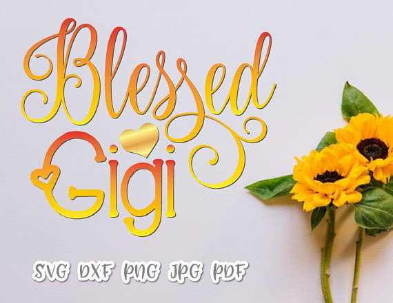 Blessed Gigi Vector Clipart SVG File for Cricut