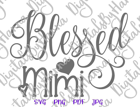 Blessed Mimi Cuttable Shirt Decal Heat HTV Cutting