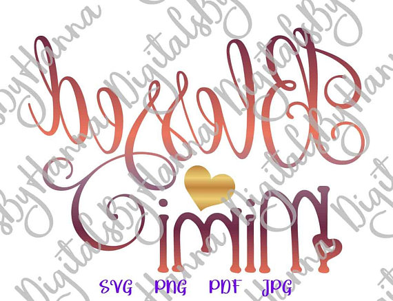 Blessed Mimi Vector Clipart SVG File for Cricut Gift