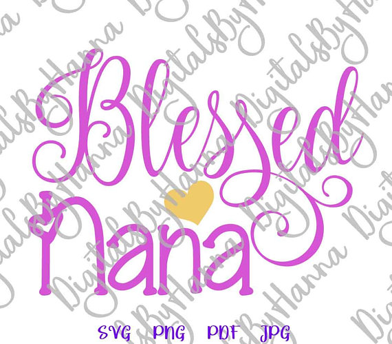 Blessed Nana Cutter Visual Arts Stencil Maker Papercraft