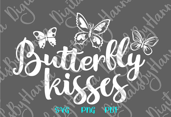 Butterfly Kisses Scrapbook Ideas Files for Laser Shirt